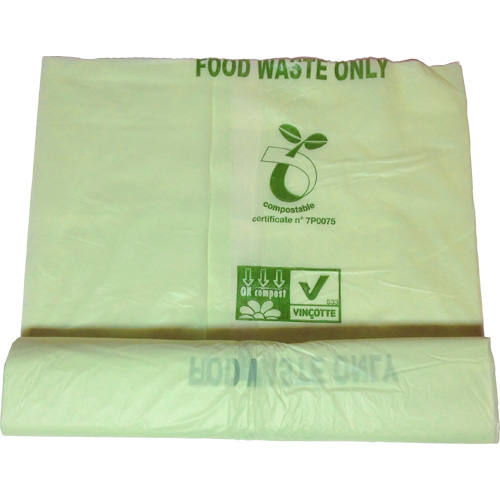 25 Litre Compostable Starch Kerbside Caddy Pedal Bin Liner