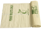 8 Litre Roll of 50 Compostable Starch Kitchen Caddy Liner